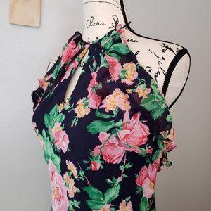 Lauren Ralph Lauren Silk Floral Halter Dress
